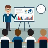 Business presentation Free Vector